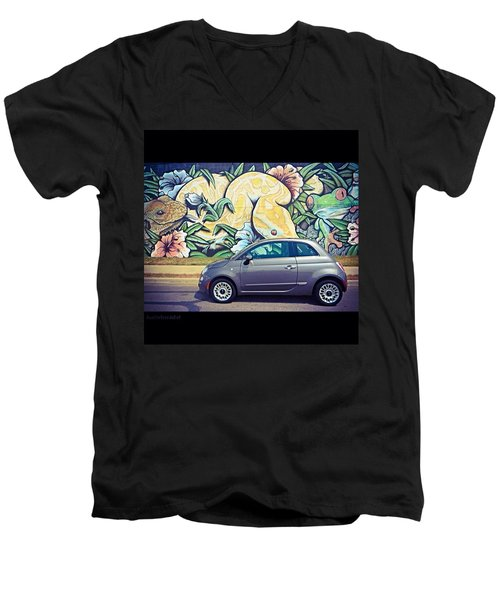 Is It Safe To Drive Mr. #fiat Into The Men's V-Neck T-Shirt