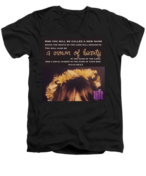 Isaiah 62 For Zion's Sake I Will Not Men's V-Neck T-Shirt