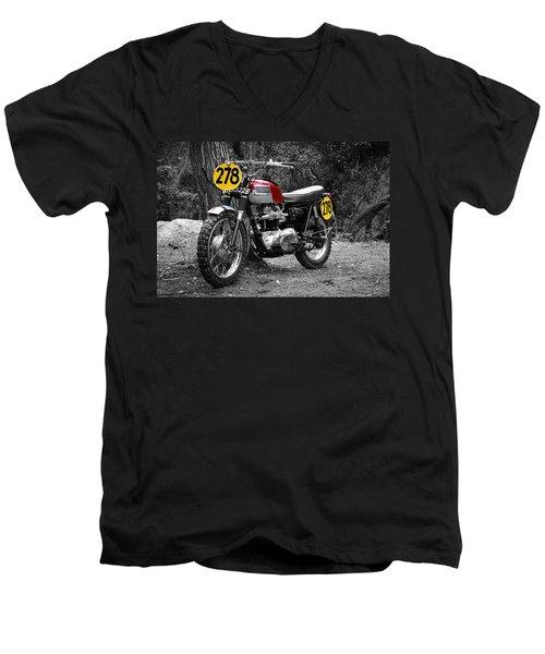 Isdt Triumph Steve Mcqueen Men's V-Neck T-Shirt