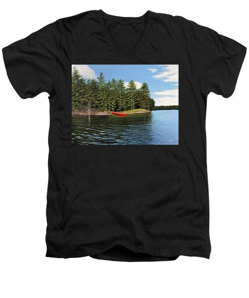 Island Retreat Men's V-Neck T-Shirt