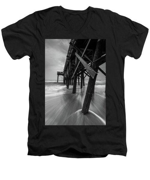 Isle Of Palms Pier Water In Motion Men's V-Neck T-Shirt