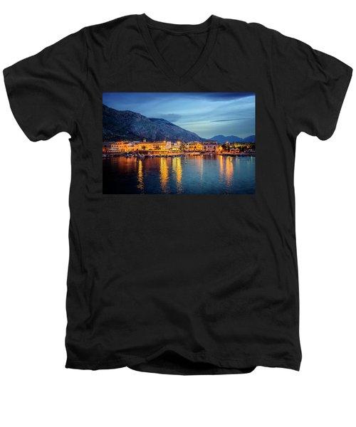 Isola Delle Femmine Harbour Men's V-Neck T-Shirt