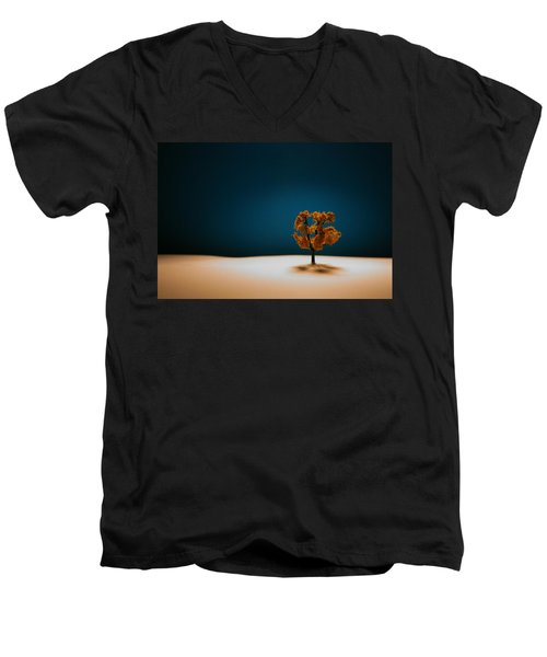 Men's V-Neck T-Shirt featuring the photograph It Is Always There by Mark  Ross