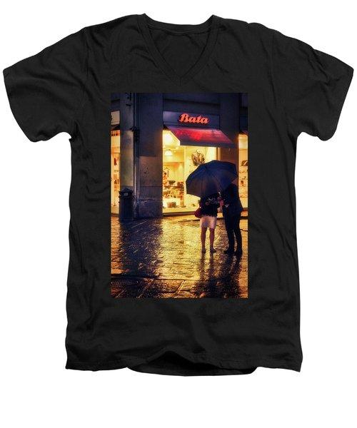 It Is Raining In Firenze Men's V-Neck T-Shirt