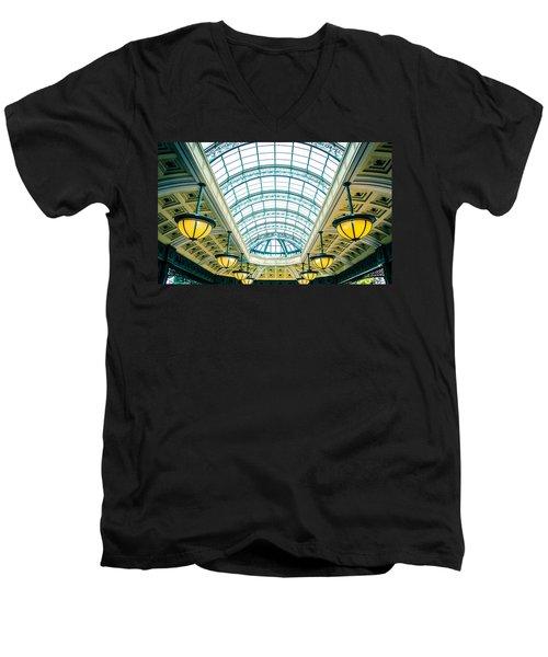 Italian Skylight Men's V-Neck T-Shirt by Bobby Villapando