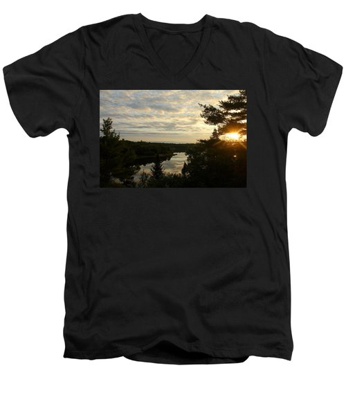 Men's V-Neck T-Shirt featuring the photograph It's A Beautiful Morning by Debbie Oppermann