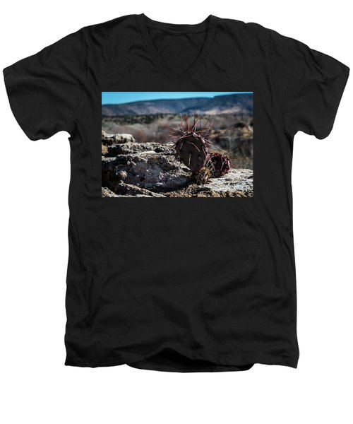 Itty Bitty Prickly Pear Cactus Men's V-Neck T-Shirt