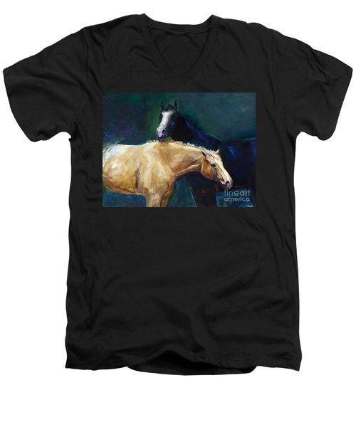I've Got Your Back Men's V-Neck T-Shirt by Frances Marino