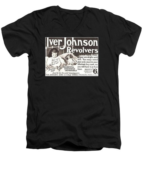 Iver Johnson Revolvers Men's V-Neck T-Shirt