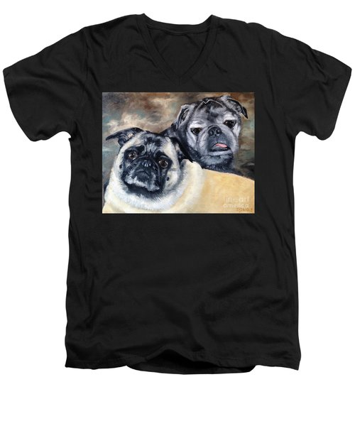 Jack And Bella Men's V-Neck T-Shirt by Diane Daigle