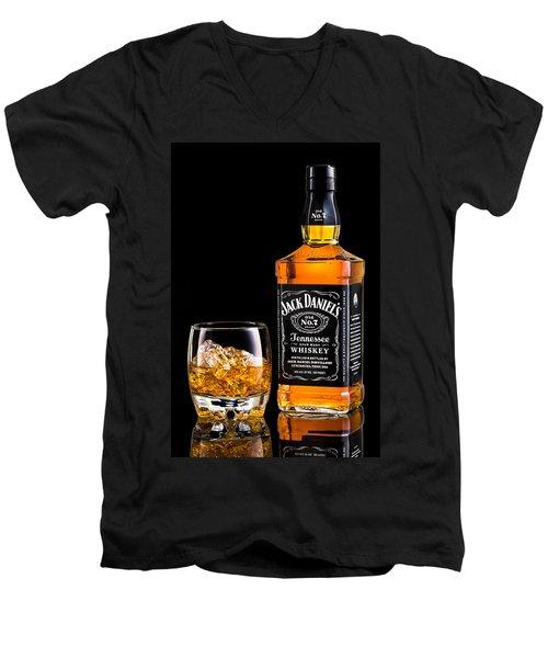 Jack Daniel's Men's V-Neck T-Shirt by Mihai Andritoiu
