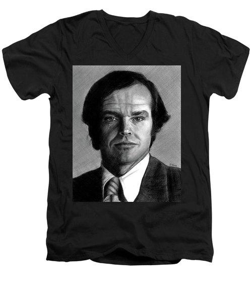 Jack Nicholson Portrait Men's V-Neck T-Shirt