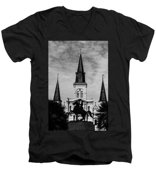 Jackson Square - Monochrome Men's V-Neck T-Shirt