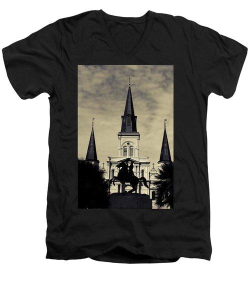 Jackson Square - Split Tone Men's V-Neck T-Shirt