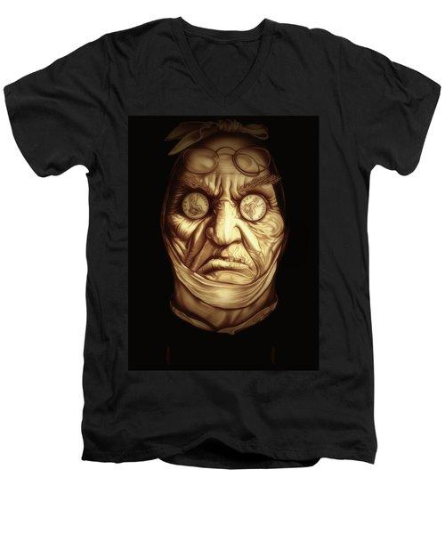 Jacob Marley Men's V-Neck T-Shirt by Fred Larucci