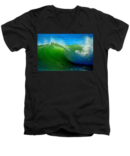 Jade Cascade Men's V-Neck T-Shirt