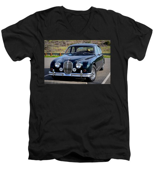 Men's V-Neck T-Shirt featuring the photograph Jag by AJ Schibig