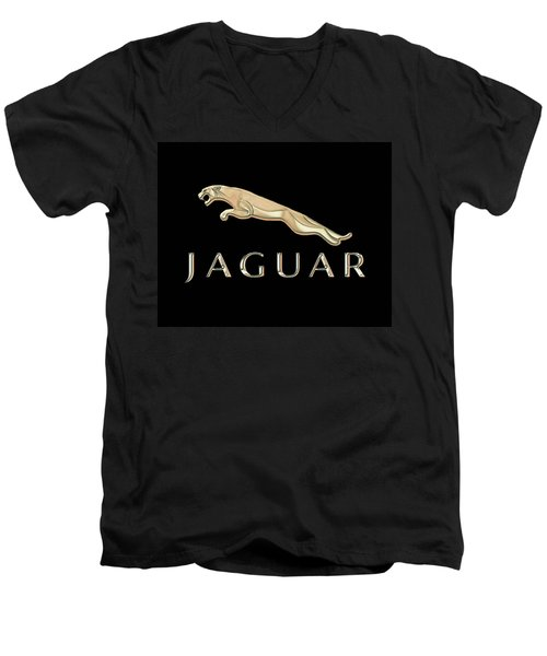 Jaguar Car Emblem Design Men's V-Neck T-Shirt