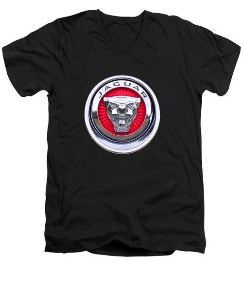 Jaguar Emblem Men's V-Neck T-Shirt
