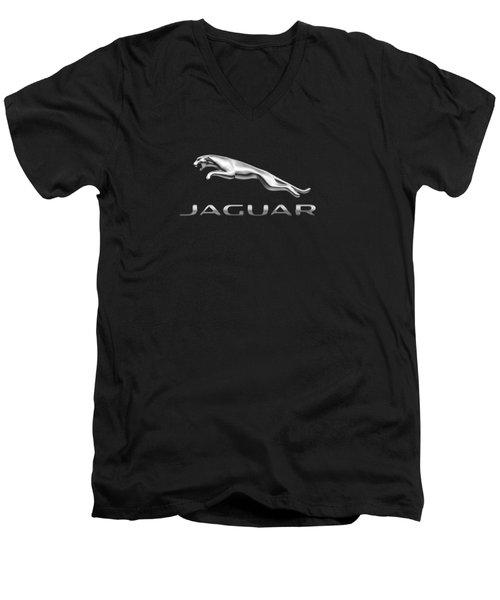 Jaguar Logo Men's V-Neck T-Shirt