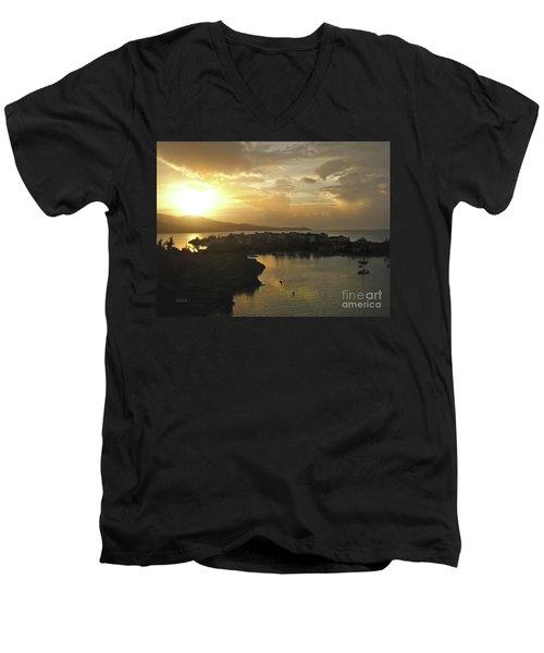 Jamaica Sunset Bay Men's V-Neck T-Shirt