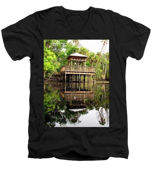 James E Grey Fishing Pier Men's V-Neck T-Shirt