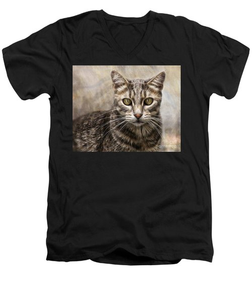 Janie's Kitty Men's V-Neck T-Shirt