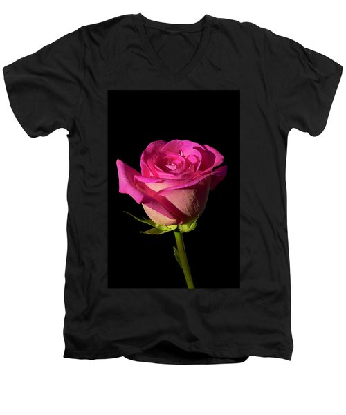 January Rose Men's V-Neck T-Shirt