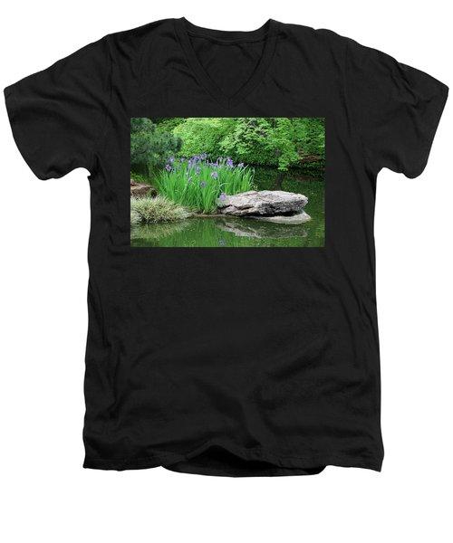 Japanese Gardens - Spring 02 Men's V-Neck T-Shirt