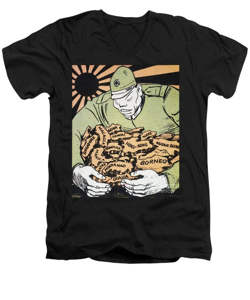 Men's V-Neck T-Shirt featuring the photograph Japanese Imperialism by Granger