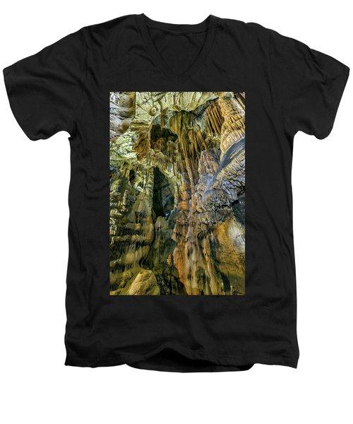 Jasovska Cave, Jasov, Slovakia Men's V-Neck T-Shirt
