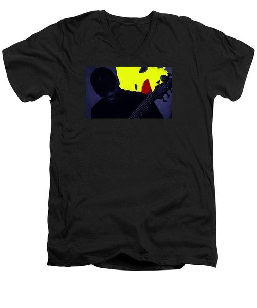 Jazz 12 Men's V-Neck T-Shirt by David Gilbert