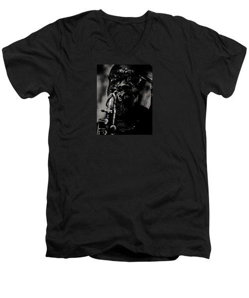 Jazz 13 Men's V-Neck T-Shirt by David Gilbert