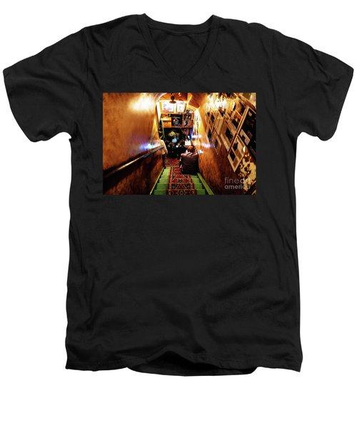 Jazz Club Men's V-Neck T-Shirt by M G Whittingham