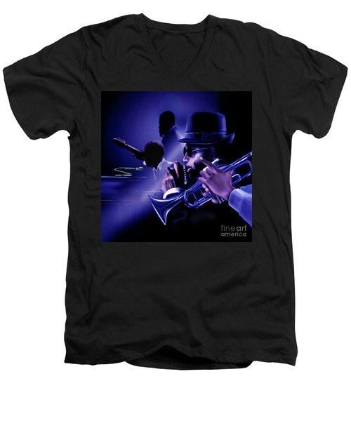 Jazz In Da Dusk Men's V-Neck T-Shirt