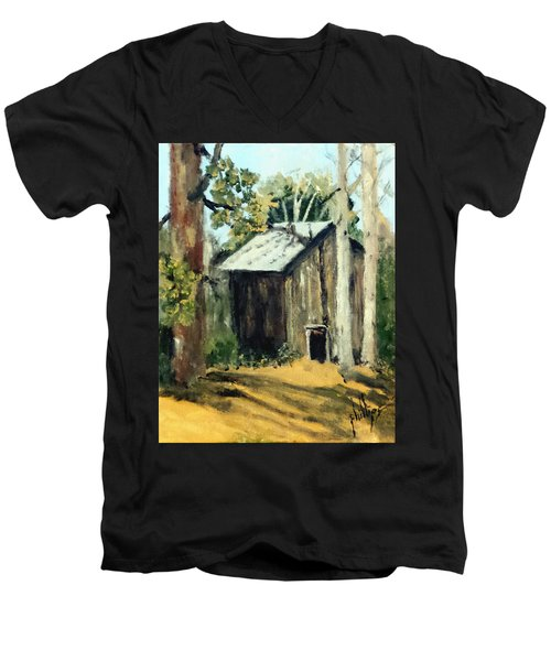 Jd's Backker Barn Men's V-Neck T-Shirt by Jim Phillips