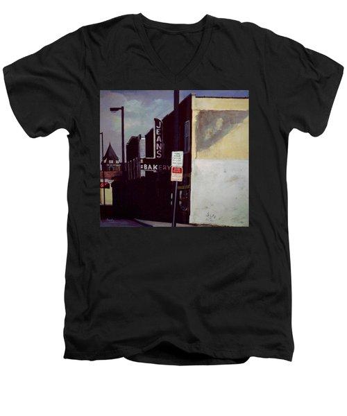 Jean's Bakery Men's V-Neck T-Shirt