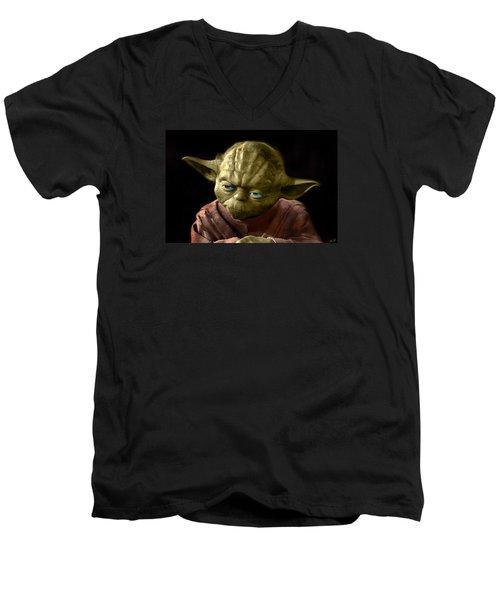 Jedi Yoda Men's V-Neck T-Shirt