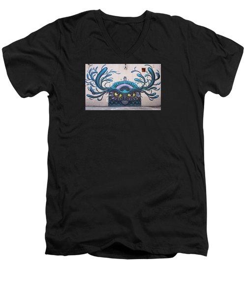 Jeff Soto Mural Men's V-Neck T-Shirt by Jean Haynes