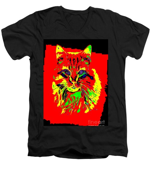 Jekyll The Cat Men's V-Neck T-Shirt