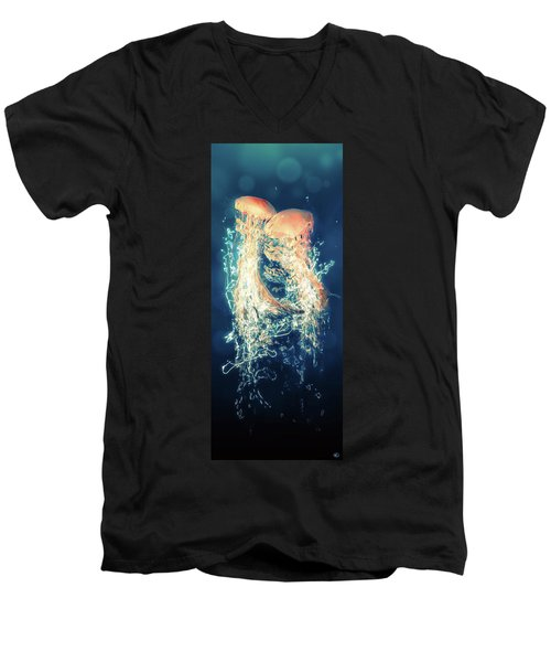 Jellies Men's V-Neck T-Shirt by Kenneth Armand Johnson