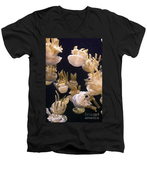Jelly Parade Men's V-Neck T-Shirt by Jim And Emily Bush