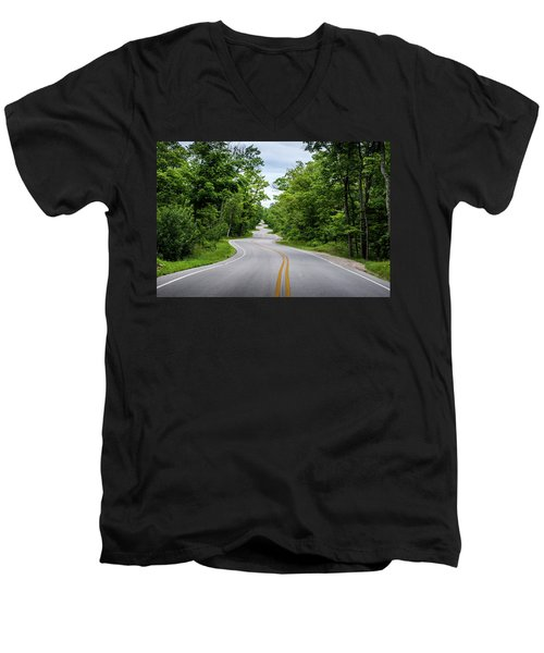 Jens Jensen's Winding Road Men's V-Neck T-Shirt
