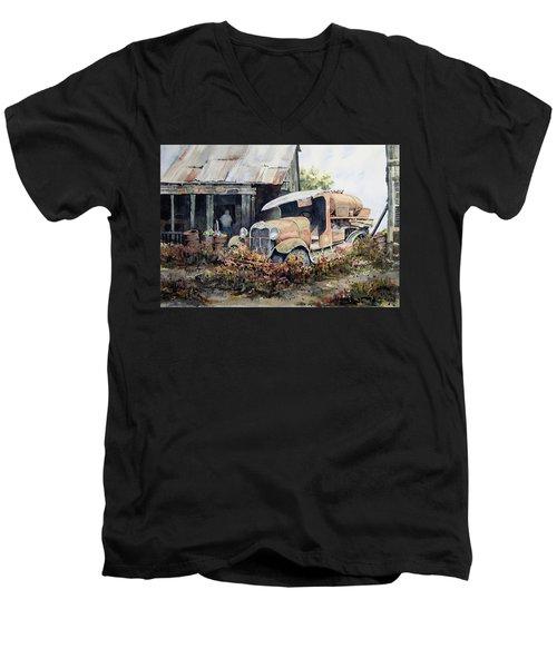 Jeromes Tank Truck Men's V-Neck T-Shirt