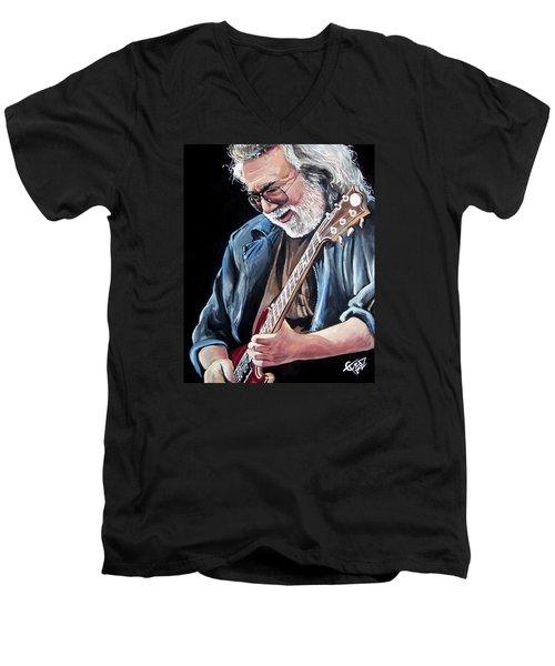 Jerry Garcia - The Grateful Dead Men's V-Neck T-Shirt