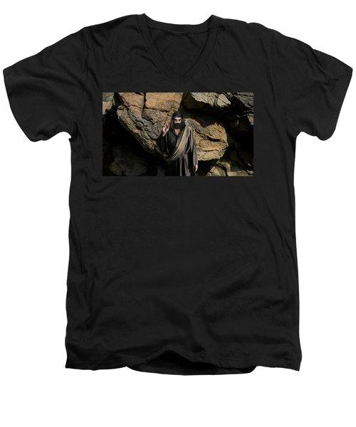 Jesus Christ- Be Blessed And Prosper Men's V-Neck T-Shirt