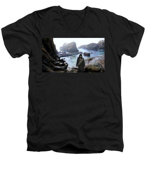 Jesus Christ- Be Not Dismayed For I Am Your God Men's V-Neck T-Shirt
