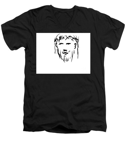 Jesus Christ Head Men's V-Neck T-Shirt