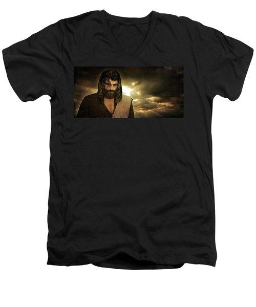 Jesus Christ- Will You Hear Me Shout Come Up Men's V-Neck T-Shirt