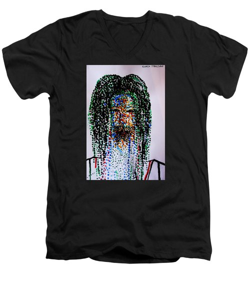 Jesus Lion Of Judah Men's V-Neck T-Shirt by Gloria Ssali